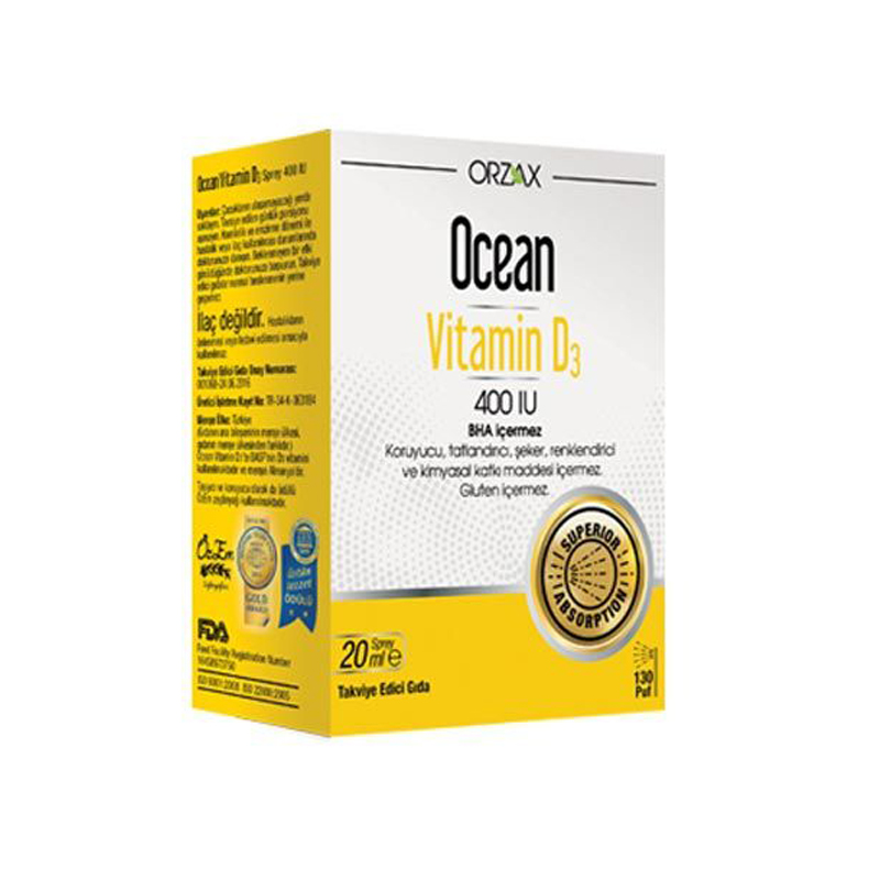 Ocean Vitamin D3 400 IU 20 ml Spray